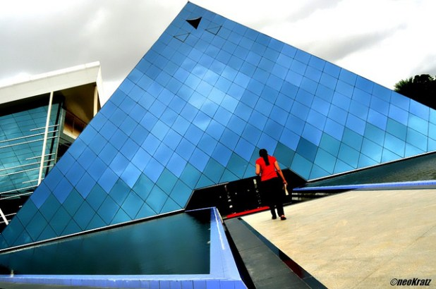 The famous Pyramid at Infosys in Bangalore. (Photo by Kartik Malik, CC license)