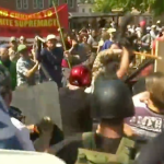 A view of violent protests at Charlottesville, Virginia, which left 32-year-old Heather Heyer dead on August 12. (Photo via video stream)