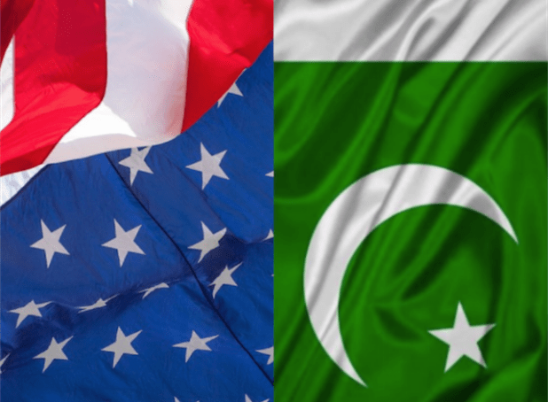US Pakistan flags