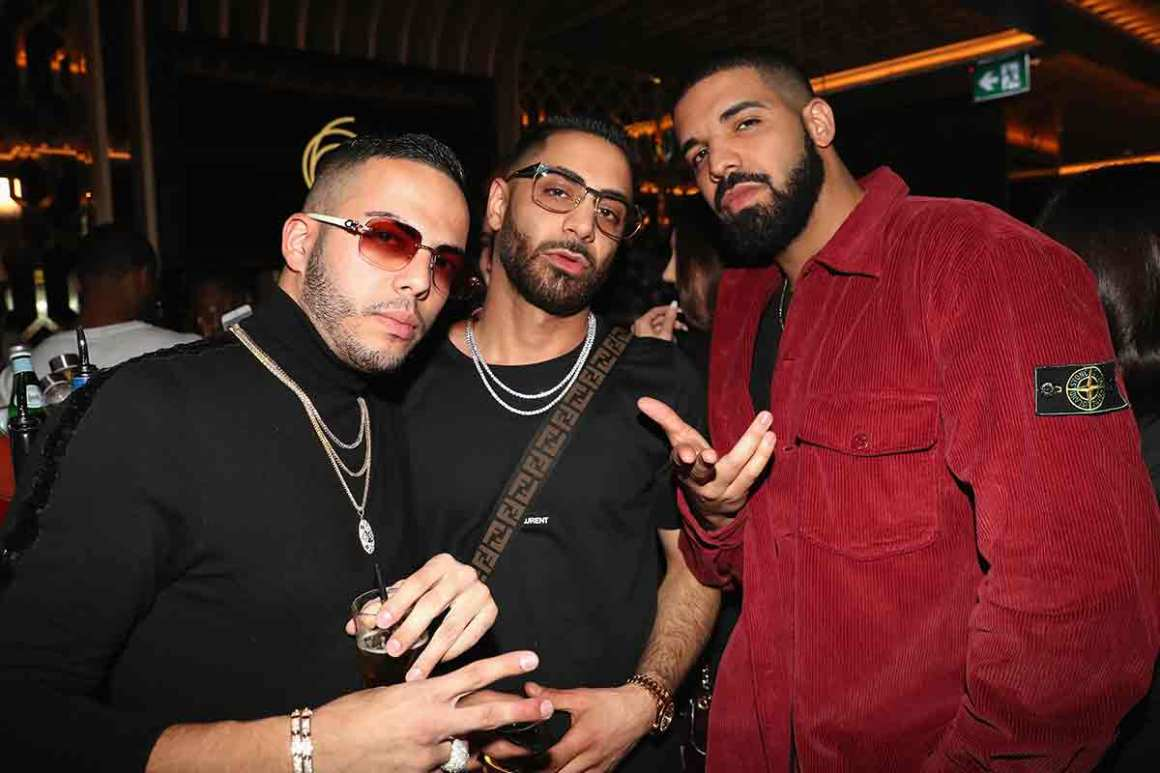 Eric Da Jeweler, Cans and Drake attend as Lebron James hosts Dwyane Wade's Birthday with The House Of Remy Martin at Drake's New Pick 6ix Restaurant on January 9, 2018 in Toronto, Canada. (Photo by Johnny Nunez/Getty Images for Remy Martin)