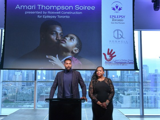 Tristian Thompson at Amari Soiree for Epilepsy Toronto