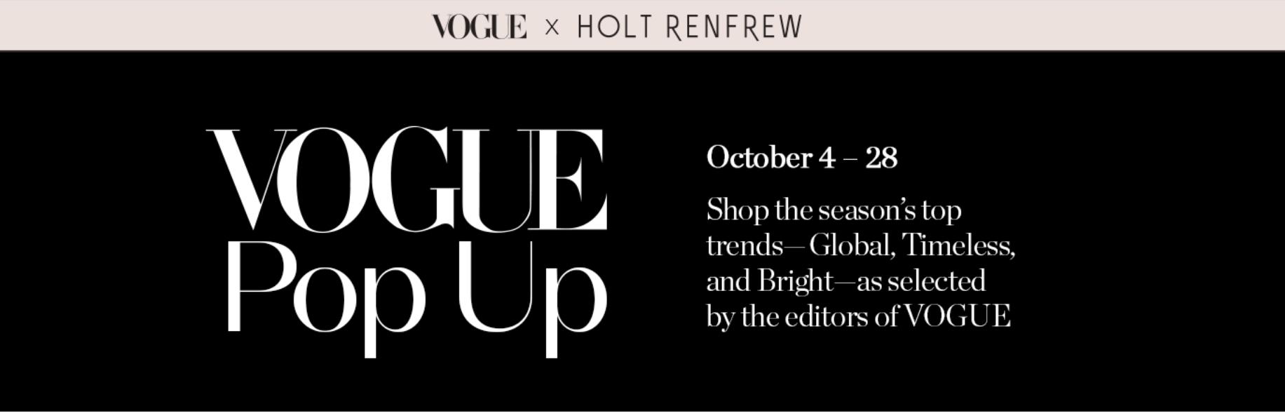 Holt Renfrew x Vogue
