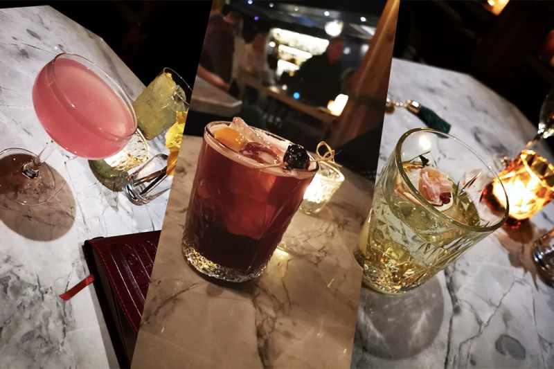 Cocktails at a toi hidden bar toronto - view the vibe