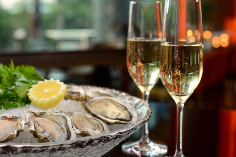 coffee oysters champagne toronto a tois - champagne bar - view the vibe