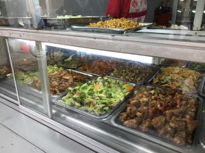 Fast Food Bar with Choice of Meat and Two Sides over Rice