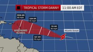 tropical storm danny 5