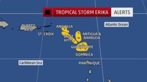 tropical storm erika 5