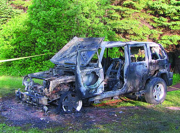 CHARLOTTE AMALIE U2014 Police Said That A Badly Burned Body Was Discovered In A  Stolen Car Rental On The West End Of St. Thomas.