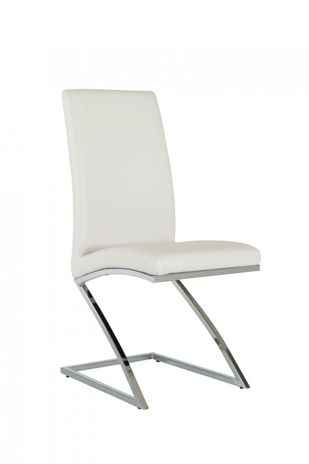 White Modern Chair Angora Modern White Dining Chair Set Of 2