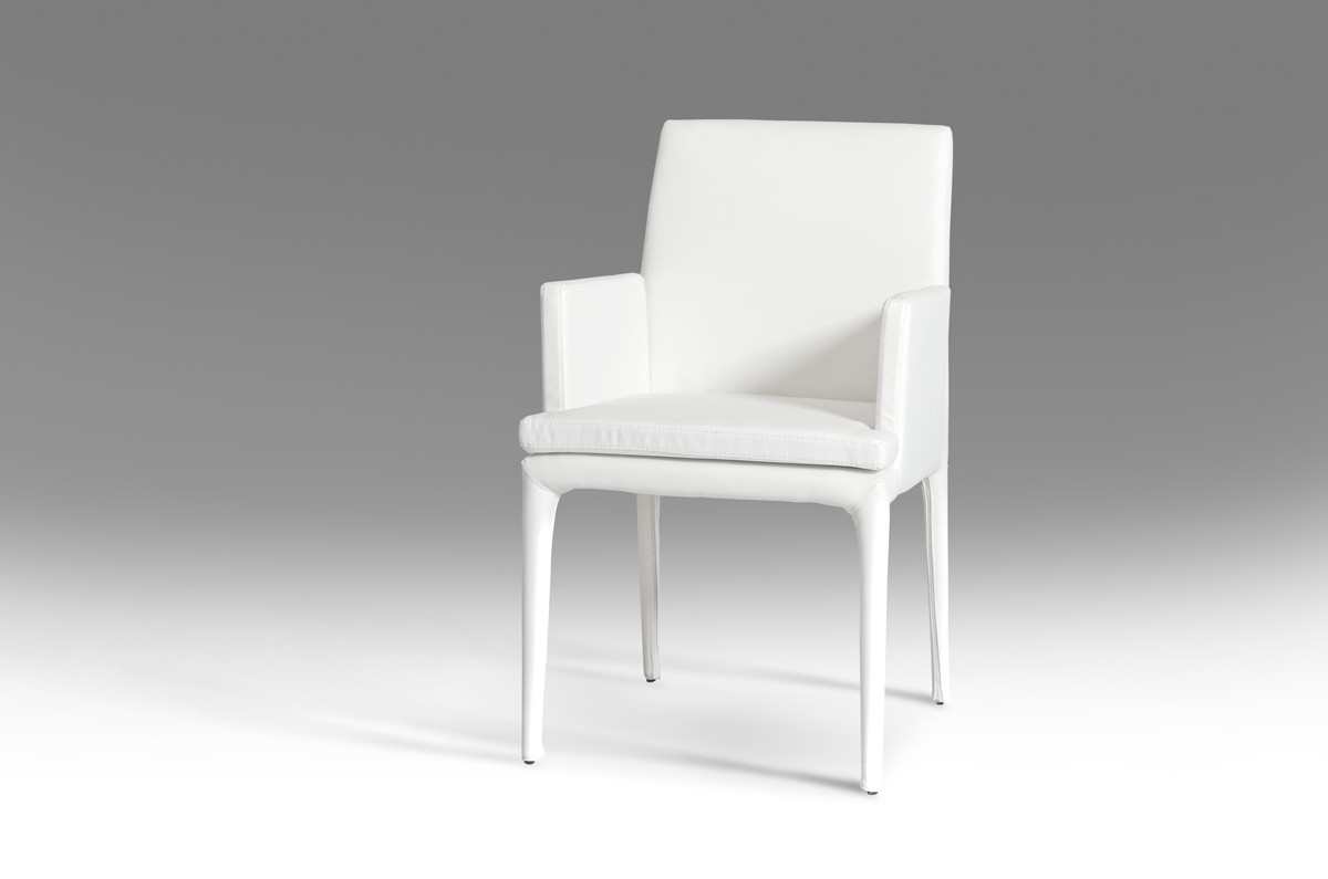 Modern White Chair Modrest Dex Modern White Leatherette Dining Chair Dining