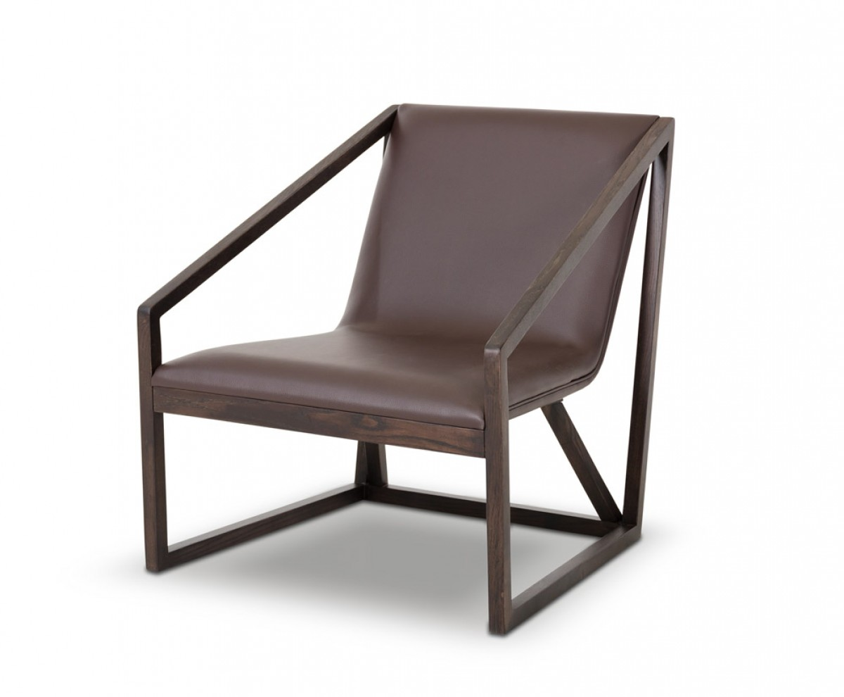 Modern Lounge Chairs Divani Casa Taranto Modern Brown Eco Leather Lounge Chair