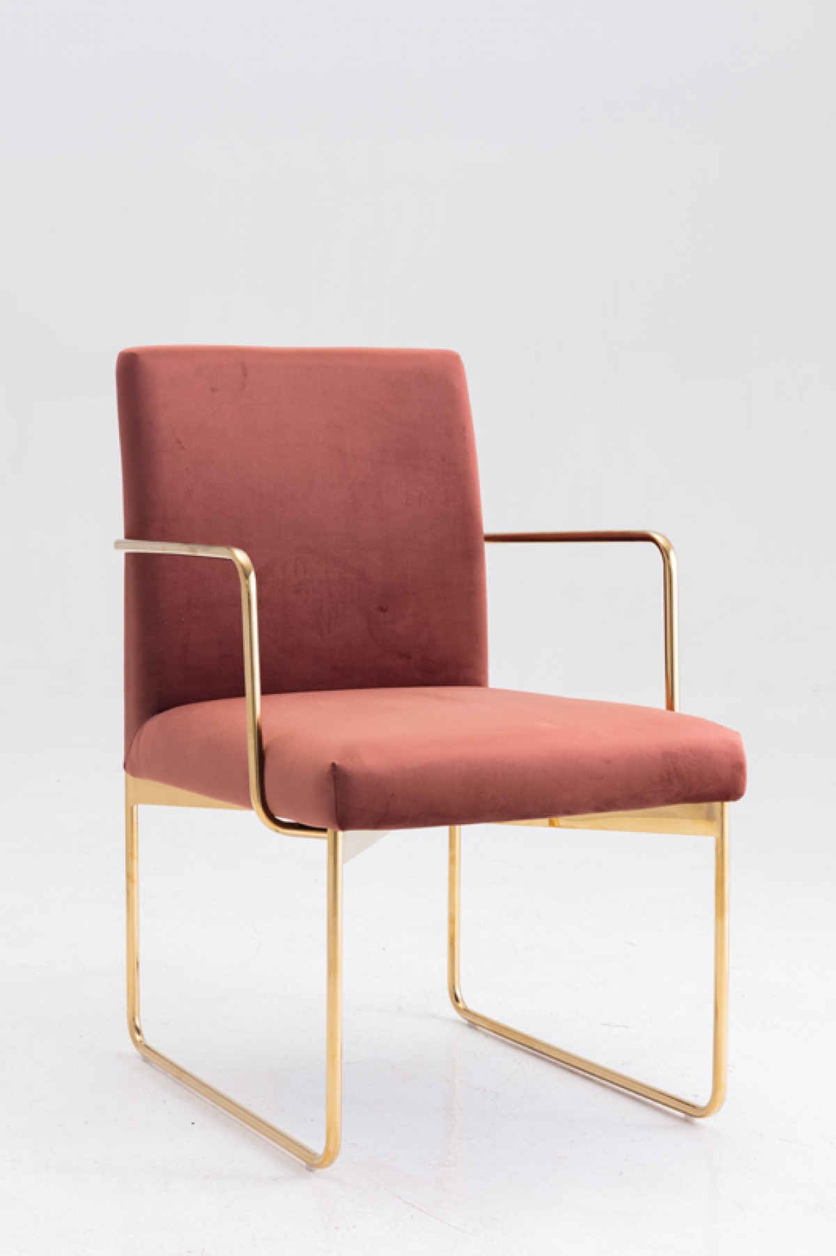 Copper Dining Chairs Modrest Thelan Modern Copper Fabric Gold Dining Chair Dining