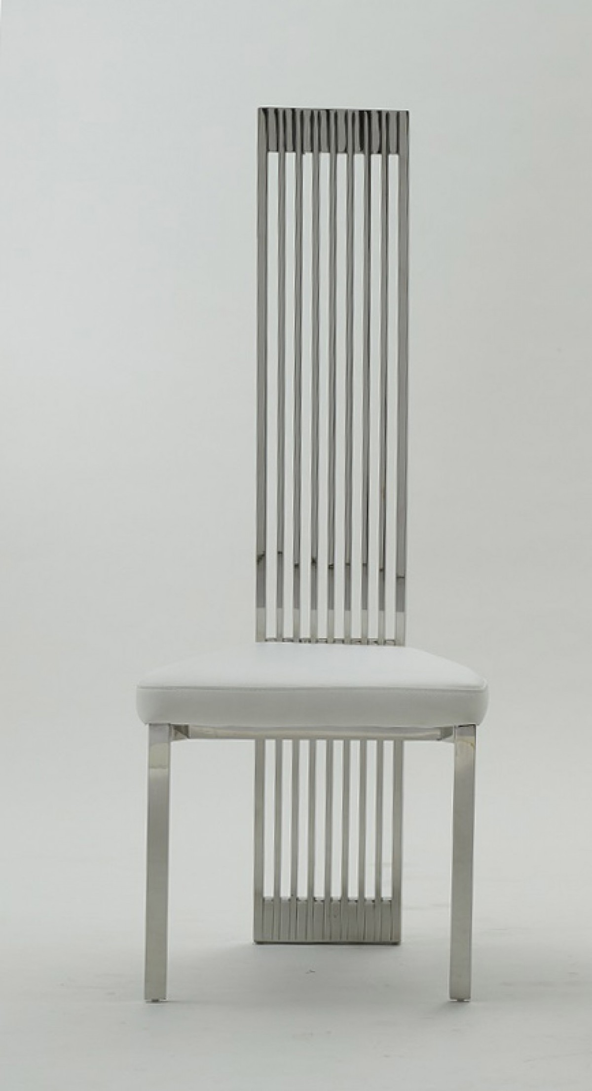 Modern White Dining Chair Modrest Elise Modern White Leatherette Dining Chair