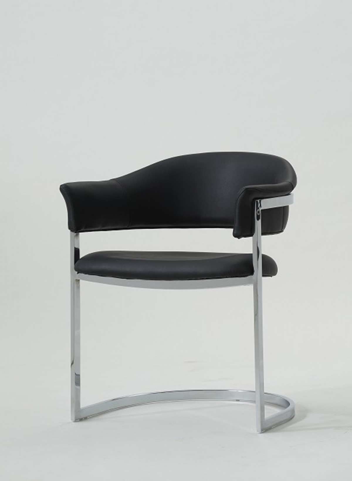Dining Chairs Black Modrest Allie Contemporary Black Leatherette Dining Chair