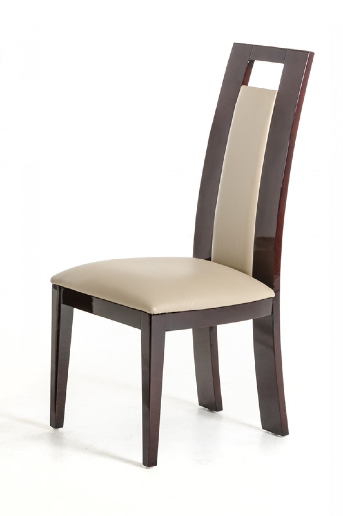 Taupe Dining Chairs Douglas Modern Ebony And Taupe Dining Chair Set Of 2