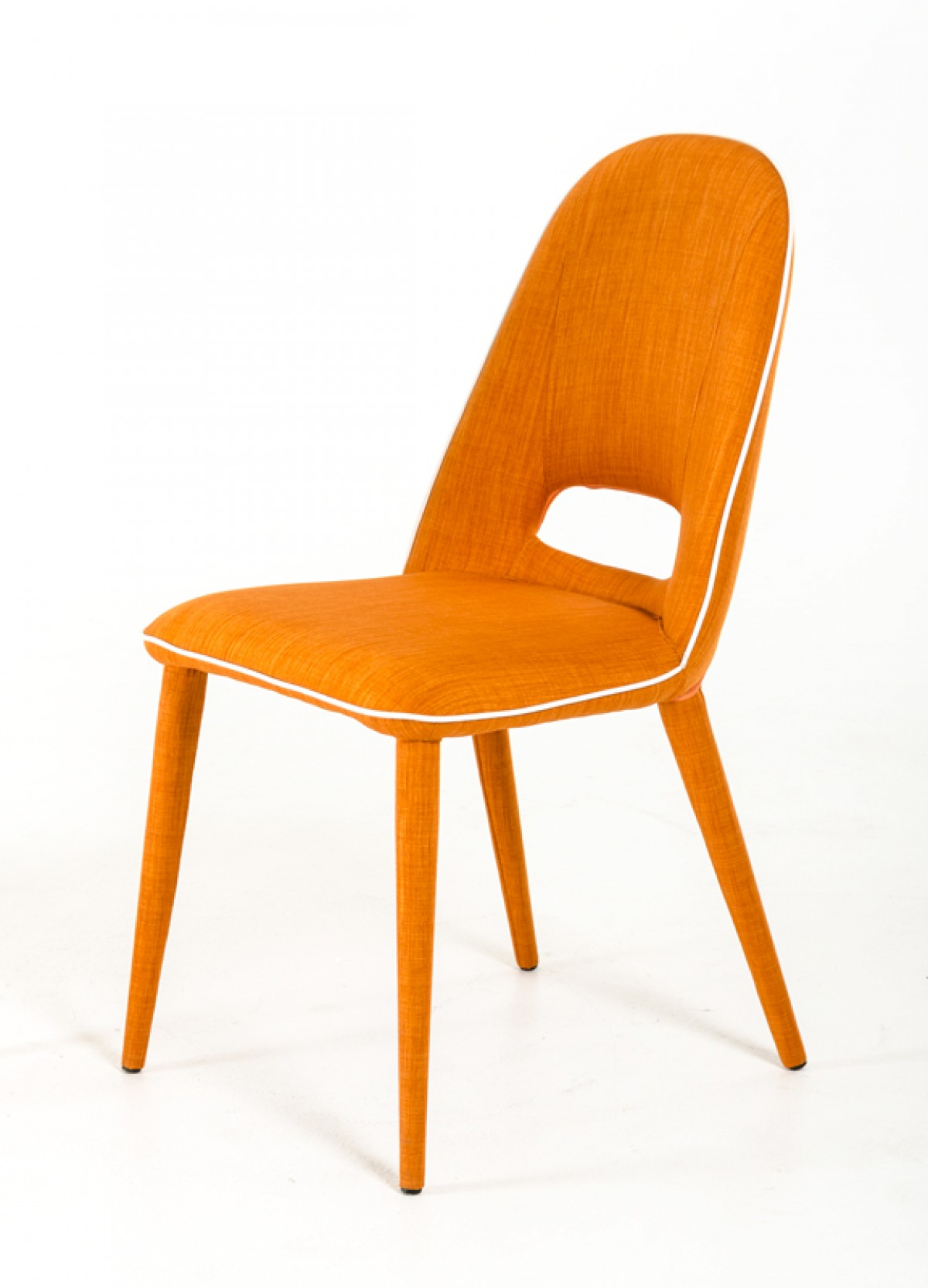 Modern Orange Chair Eugene Modern Orange Fabric Dining Chair Set Of 2