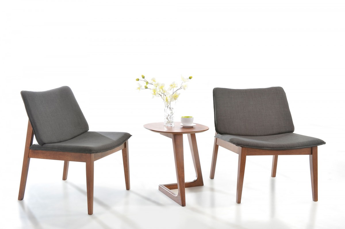 Accent Chairs Modern Jett Modern Grey Fabric Accent Chair Set Of 2