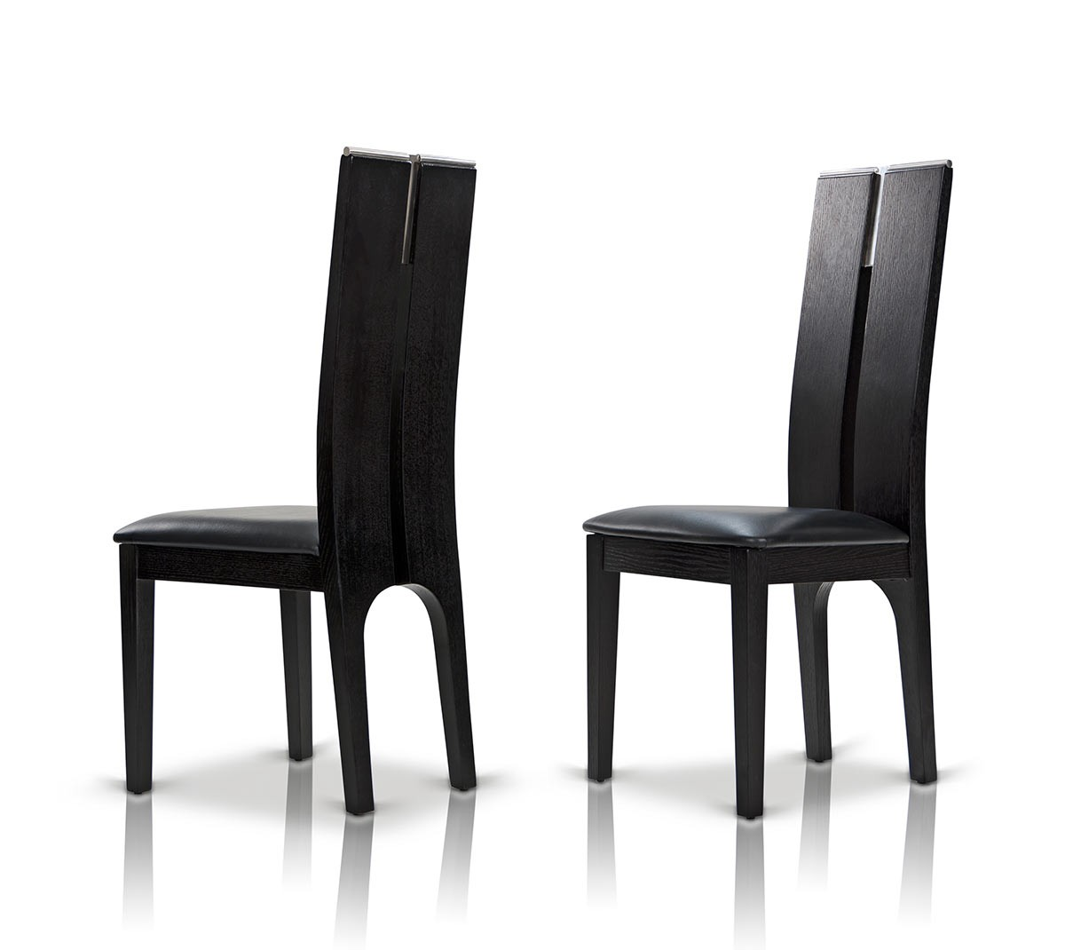 Dining Chairs Black Modrest Maxi Black Oak Dining Chair Set Of 2