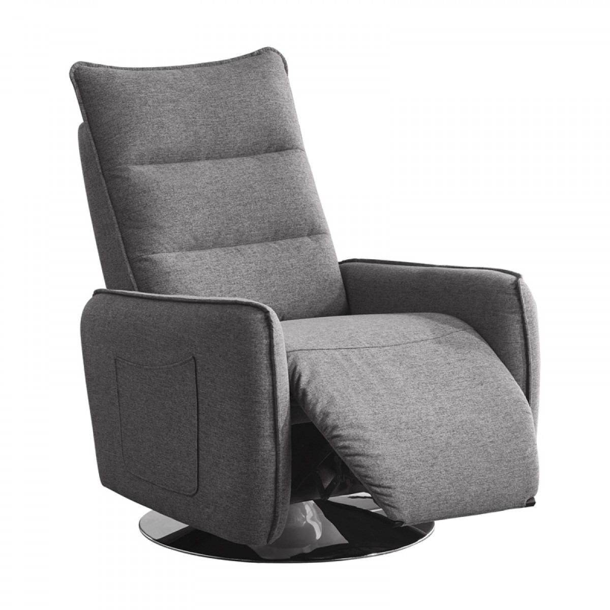 Gray Recliner Chair Divani Casa Fairfax Modern Grey Fabric Recliner Chair