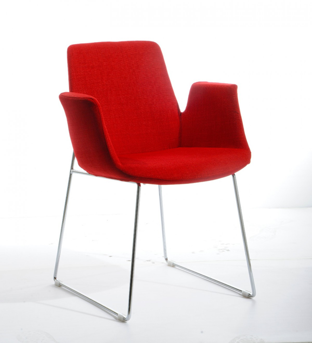 Modern Red Chair Modrest Altair Modern Red Fabric Dining Chair Dining