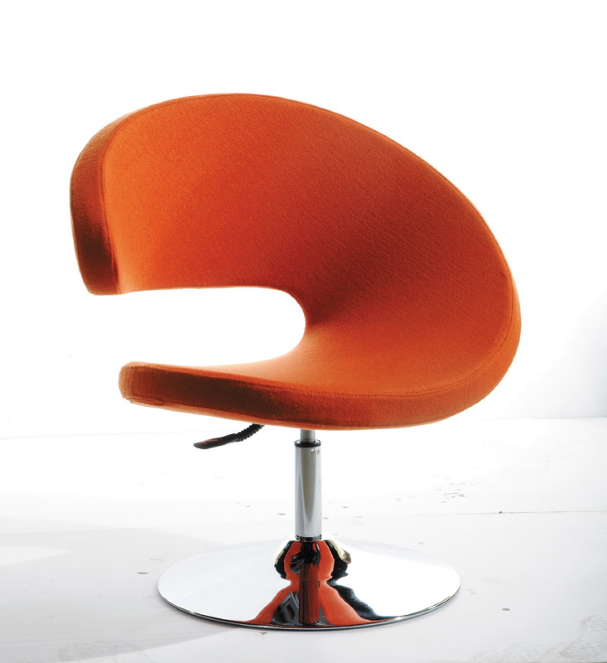 Modern Orange Chair Modrest Adara Modern Orange Fabric Lounge Chair Lounge