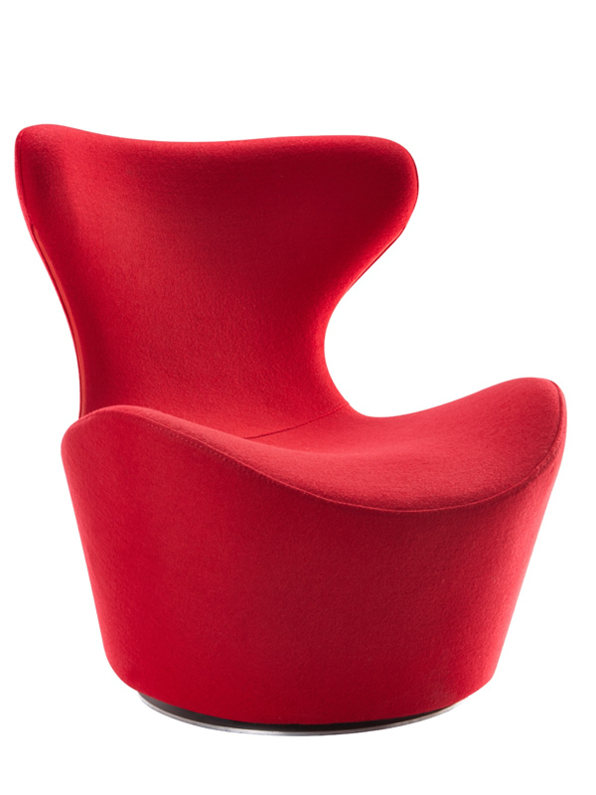 Modern Red Chair Modrest Hadrian Modern Red Fabric Accent Chair
