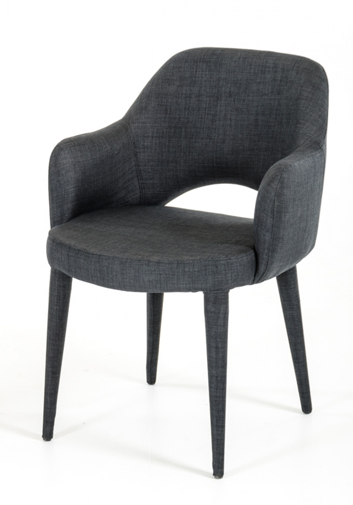 Gray Dining Room Chairs Modrest Williamette Modern Dark Grey Fabric Dining Chair