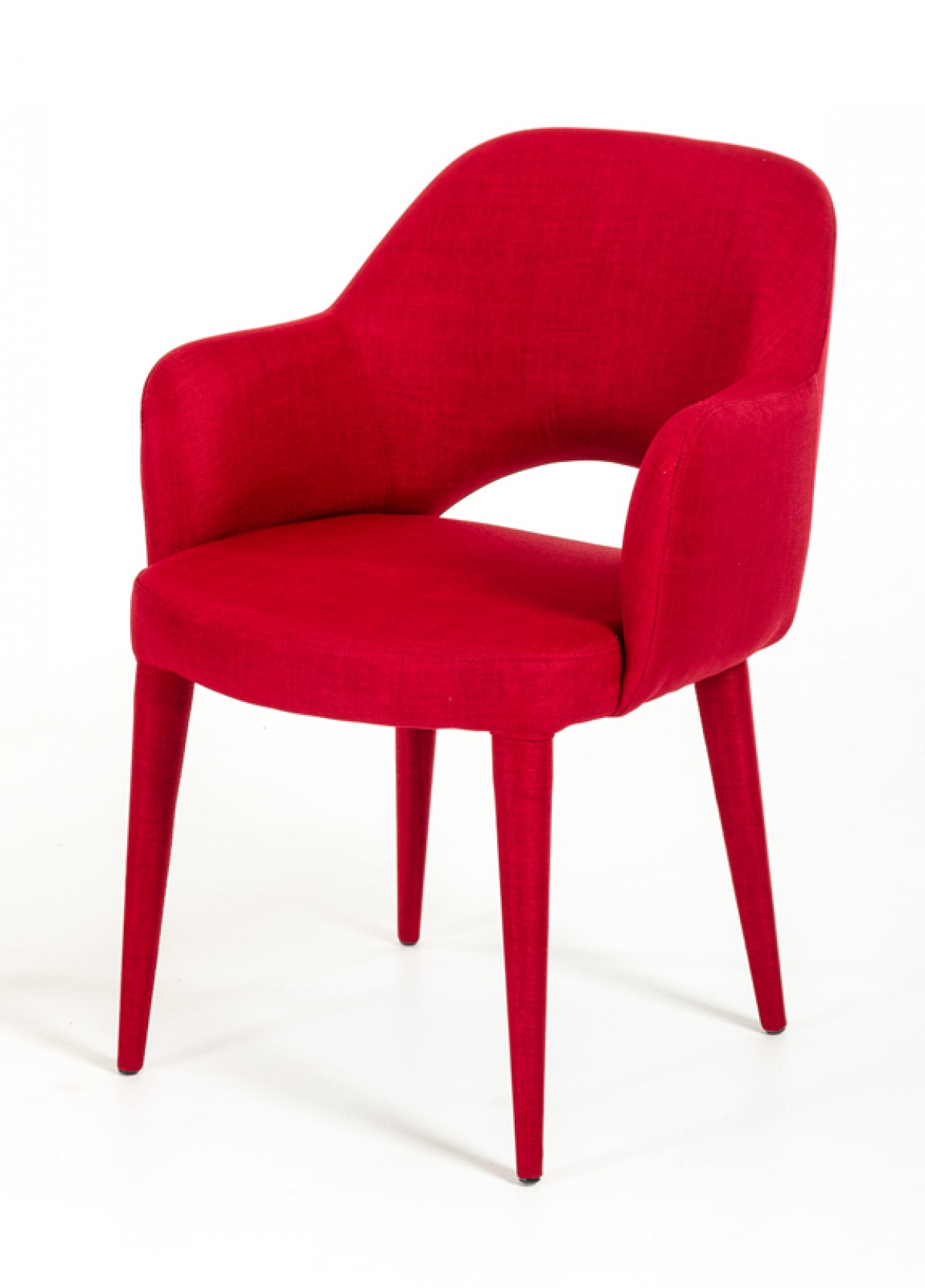 Modern Red Chair Modrest Williamette Modern Red Fabric Dining Chair