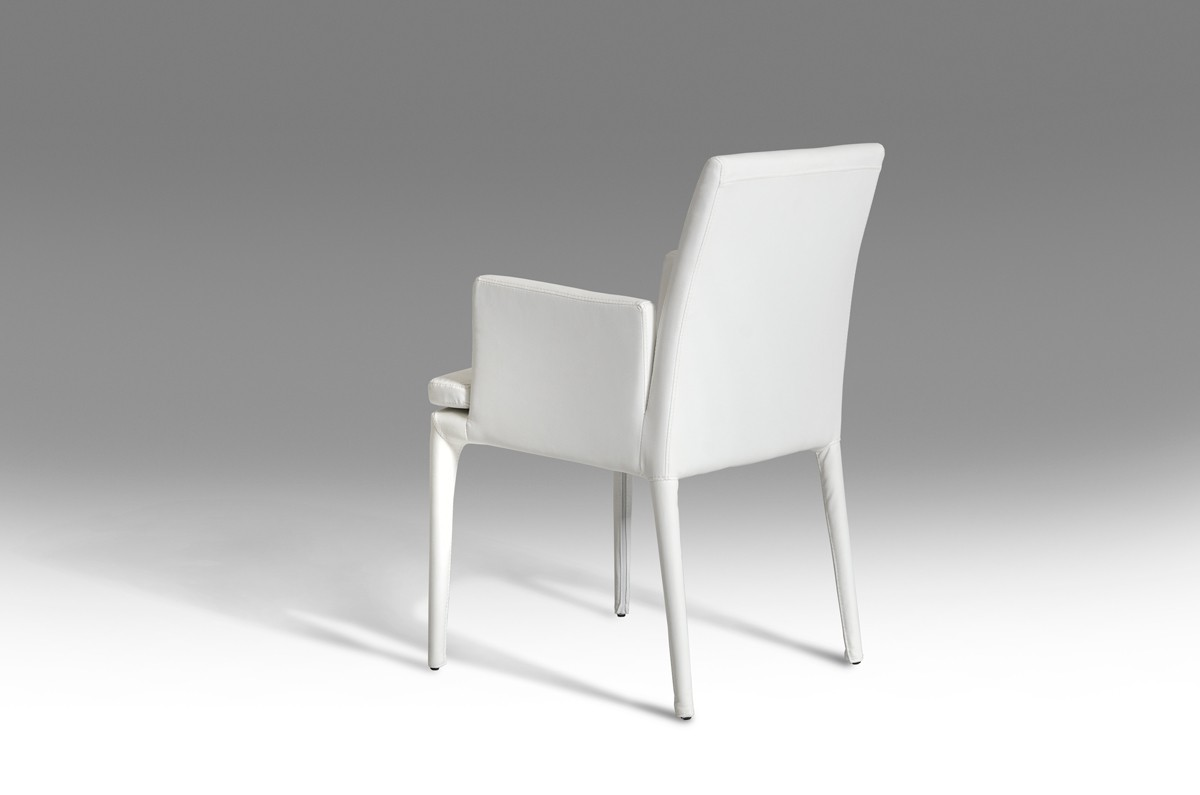 Modern White Dining Chair Modrest Dex Modern White Leatherette Dining Chair Dining