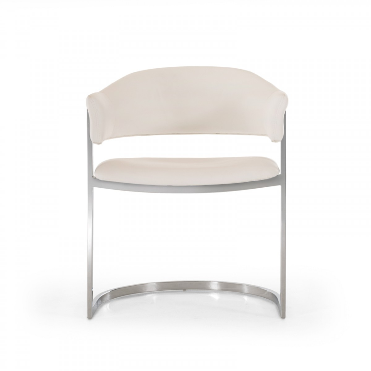 Modern White Dining Chair Modrest Allie Contemporary White Leatherette Dining Chair