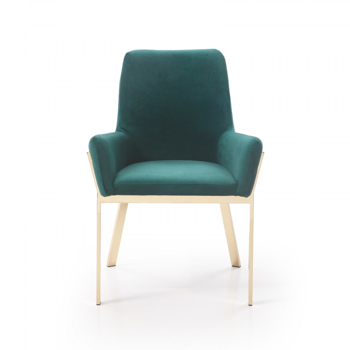 Green Velvet Dining Chairs Modrest Robin Modern Green Velvet And Gold Dining Chair