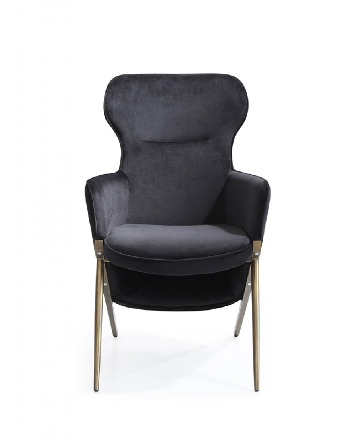 Black Velvet Chair Modrest Coreen Modern Black Velvet Accent Chair