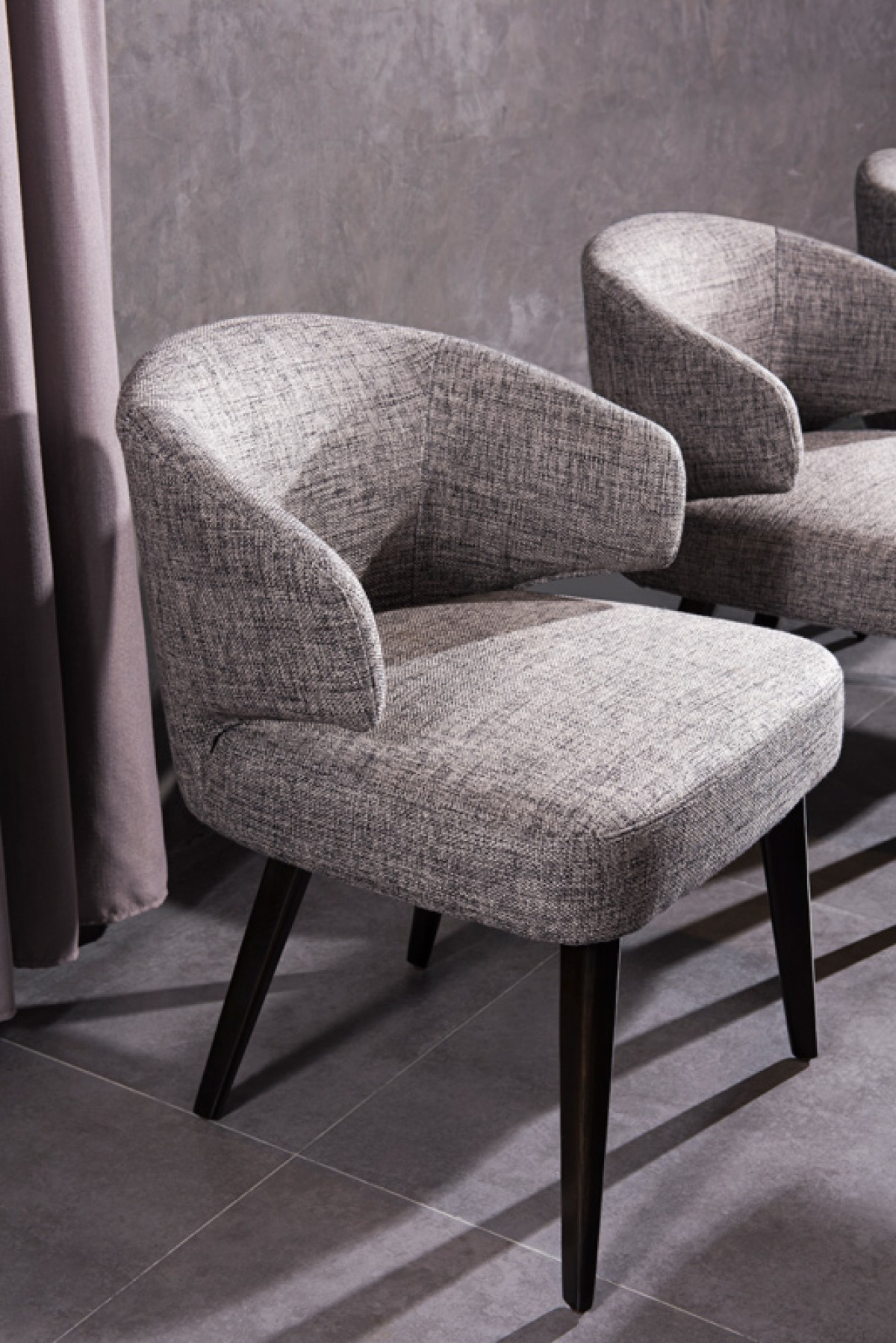 Contemporary Dining Chairs Modrest Carlton Modern Grey Fabric Dining Chair Dining