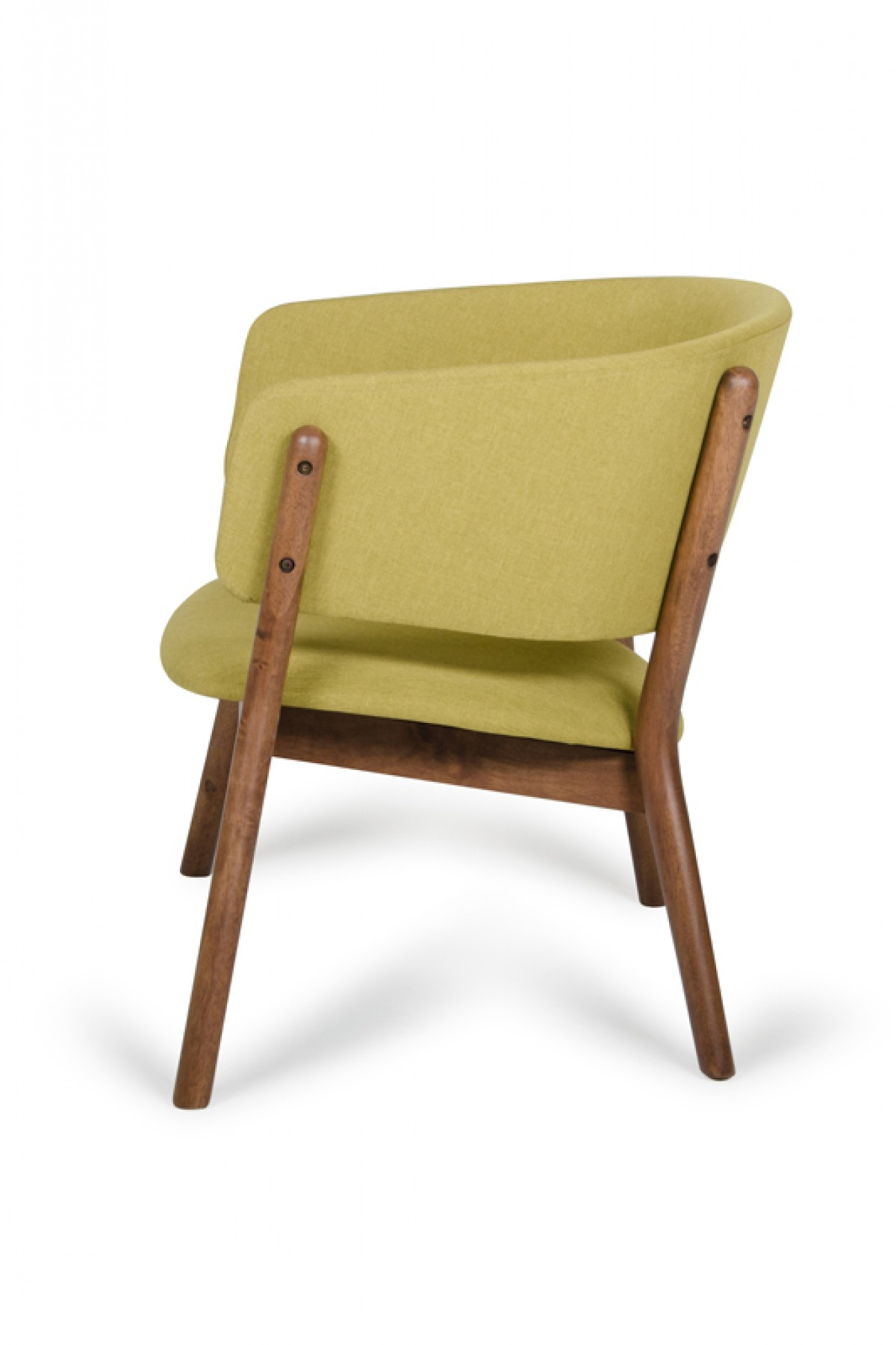 Dante Chair Dante Modern Gold And Walnut Accent Chair Set Of 2
