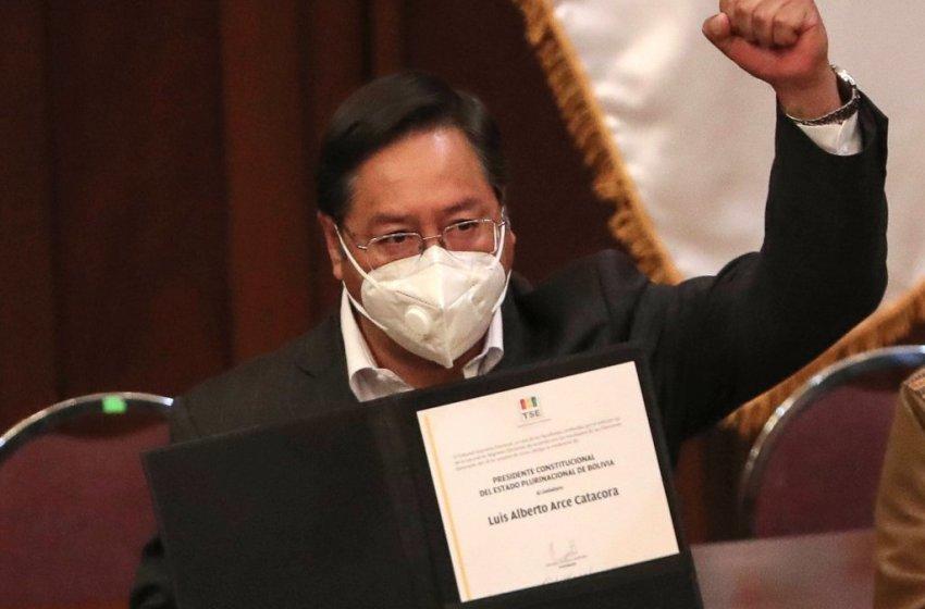 Arce recibe su credencial de presidente electo Bolivia