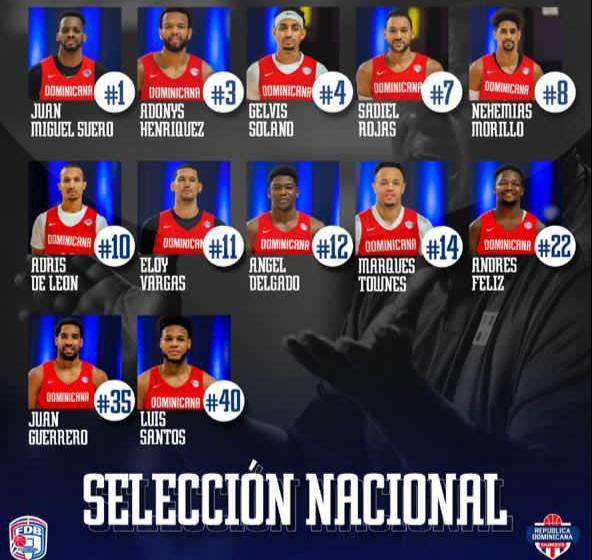 RD define 12 jugadores selección nacional para 'Burbuja' basket en Punta Cana