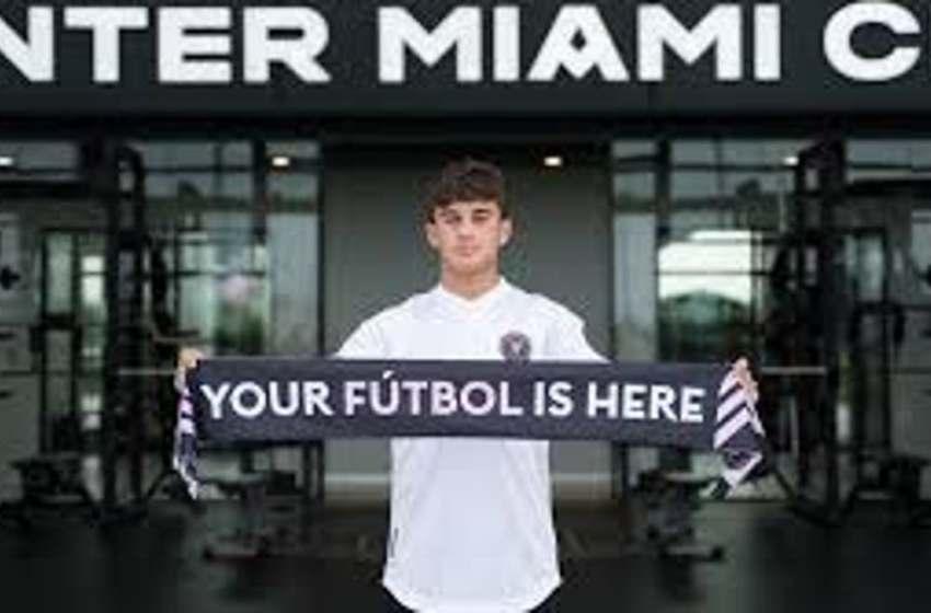 Juvenil de RD firma con Inter Miami CF