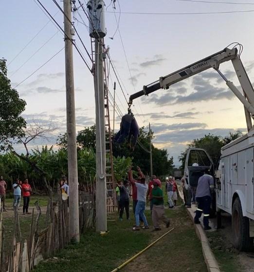 Empleado de Edenorte muere electrocutado en Guayubín