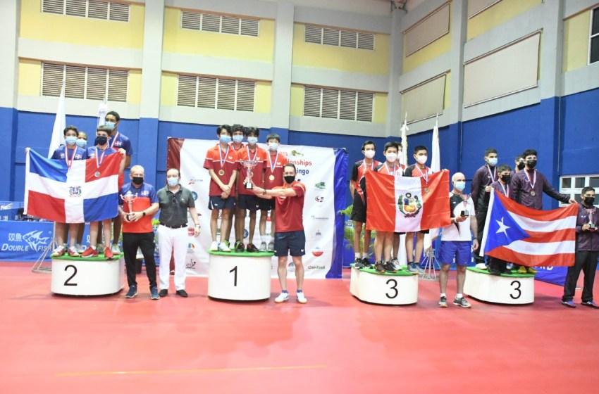 Infantil masculino RD, plata en Panamericano de Tenis de Mesa