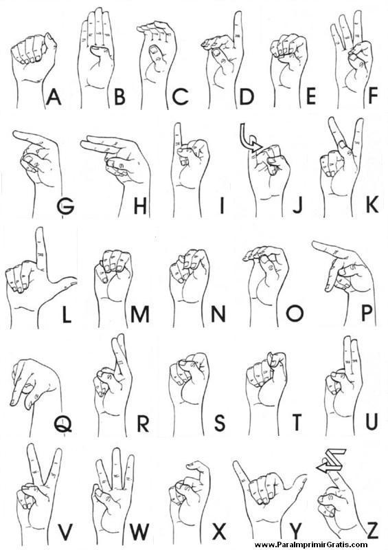 Diccionario de lenguaje de señas
