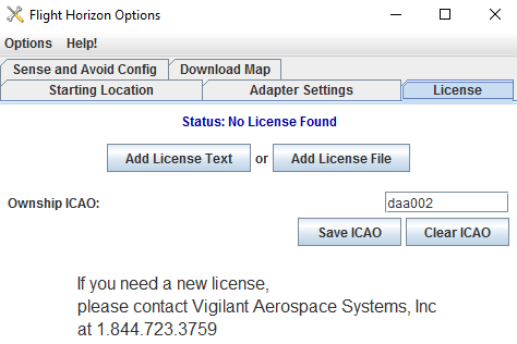 <b>License Management</b></h2> <p>User can remotely provision licenses and to license FlightHorizon installs to individual aircraft using an ICAO number.</p> <h2>
