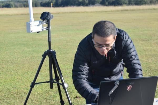 Vigilant Aerospace Systems' Sr. Software Developer Zimmer Nguyen preparing for the beyond visual line-of-sight flight operations.