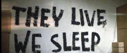 2012 april revolutionizing awareness on a wall inside the church is written they live we sleep a phrase that describes the fundamental difference between the elite and the masses fandeluxe Choice Image