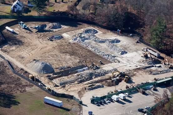 "Here is what left of Sandy Hook Elementary School. Questioning the ""official version"" of the story with crime scene evidence is now quite difficult, isn't it?"