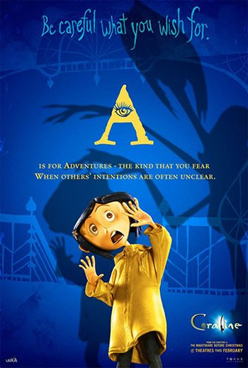 A creepy poster of the movie featuring an All-Seeing Eye inside a triangle.