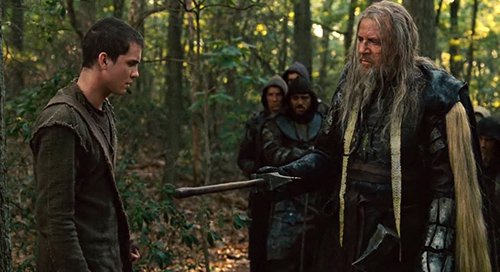 """Tubal-Cain gives a sword to Ham, Noah's son, giving him the opportunity to """"become a man""""."""