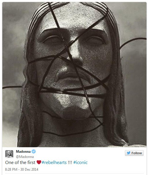 Yeah, she put Jesus in those strings. And the hashtag underneath is ridiculous.