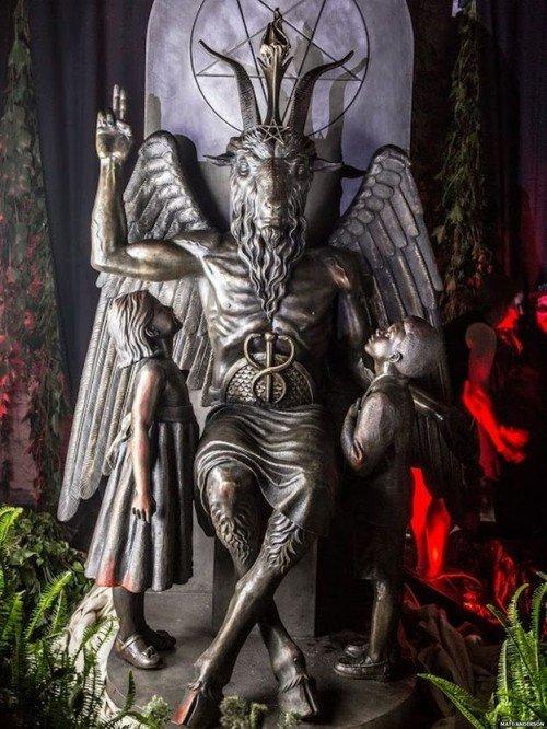 The Satanic Temple Unveils a Massive Statue of Baphomet in Detroit
