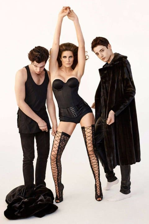 This Harper Bazaar photoshoot of Stephanie Seymour with her sons is not new (2014) but it is pure fashion industry sickness. The weird, nauseating sexual context of these pics is just wrong.