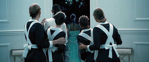 "Rihanna walks into the portal which represent her initiation into the ""dark side""."